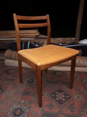 Vintage Set Four Mid Century Danish teak  Dining Chairs 4 and a table rare!!