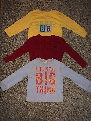 Toddler Boy 3t Long Sleeve Lot Crazy 8 Baby Gap Chaps