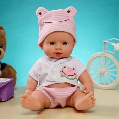 "11"" Reborn Baby Doll Full Body Vinyl Silicone Lifelike Newborn Kids Toy Gifts"