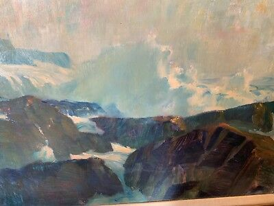 Oil Painting On Artist Board Circa1960 Signed Frank Handlen American Painter ME.