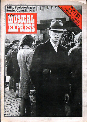 Nme 15 May 1976 . David Bowie Cover. Pink Floyd Syd Barrett . Sex Pistols Gig Ad