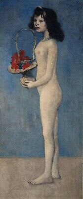 Pablo Picasso, Young Girl With a Flower Basket, Hand Signed Lithograph 1/100