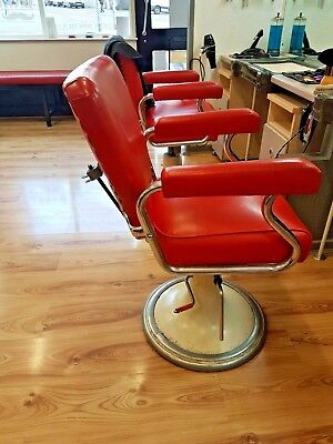 {{REDUCED}}} X3 LA. REINE 1950s BARBERS CHAIRS, RETRO, VINTAGE, SHABBY CHIC