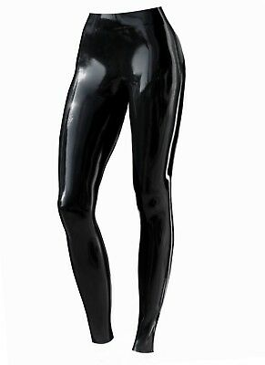 Women's Leggings Latex Rubber Black Fetish S 100% natural latex Gothic Sexy Dom