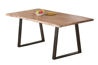 Live Edge Wood Slab Solid Natural Acacia Wood Dining Table, high quality table