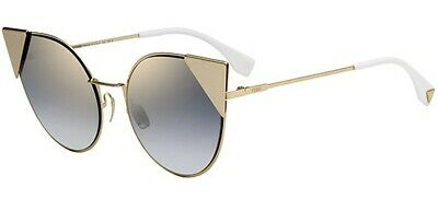 bf8f0fdd717 FENDI LEI FF0190 S gold black Palladium cat s eyes frame sunglasses ...