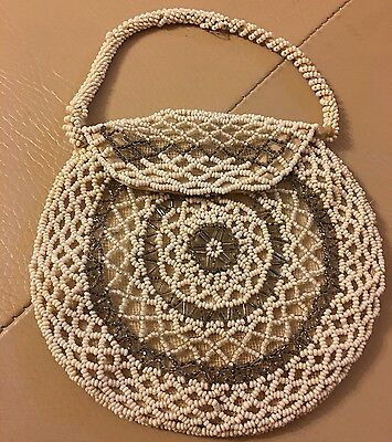 1920s beaded bag antique vintage glass evening handbag purse bridal wedding