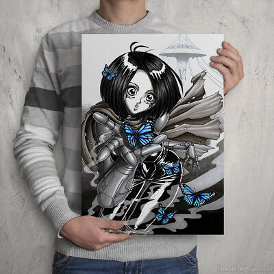 ALITA - Signed Colour Print - GUNNM Fan Artwork - by manga / anime artist - arts