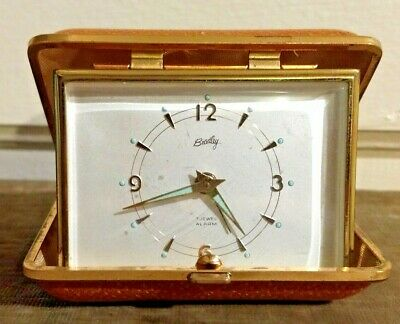 Vintage Bradley Time Corp Seven Jewels Travel Alarm Clock MADE IN GERMANY