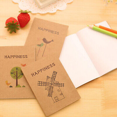 Student Notebook Blank Page Painting Paper Book Diary Journal Notepad Memo Pad L