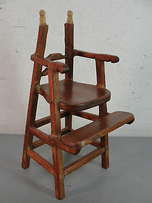 Dollhouse Miniature Wood Wooden High Chair Highchair Victorian Handmade Vintage