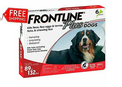 Frontline Plus Flea And Tick Control For Dog 89-132 Lb 6 Month Supply