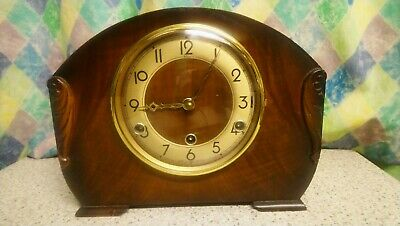 Vintage Art Deco Perivale' 8 Day Westminster Chimes Mantel Clock G. W. O