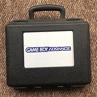 Nintendo GBA game boy Advance Blockbuster Rental Case & Console