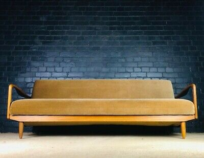 Greaves and Thomas Mid Century Teak Daybed