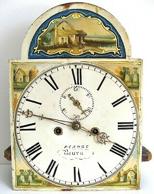 A Good Painted 8 Day Longcase Movement  - Pearce of Bourn -
