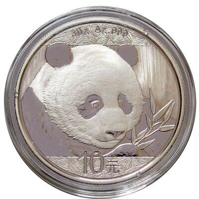 2018 China Silver Panda 30-Gram GEM BU Coin - FREE Shipping!