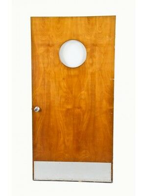 Birch Wood Michael Reese Hospital Serum Center Laboratory Door With Clear Glass