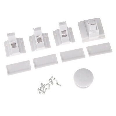 Invisible Magnetic Baby Safety Locks Pet Proof Cupboard Door Drawers Kit White