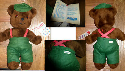 Nwt Vintage Ll Bean German Teddy Bear Suspenders Overalls Cuddle Toys Classics