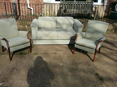 Vintage parker knoll 3 Piece ..Sofa / day bed and 2 Chairs