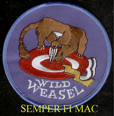 WILD WEASEL Willie YGBSM HAT PATCH F-105 F4 F-16 EWO PILOT US AIR FORCE AFB  WOW