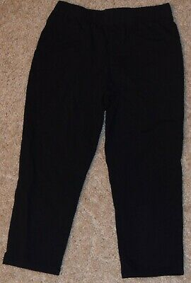 Total Girl Size 10/12 Medium Black Capris