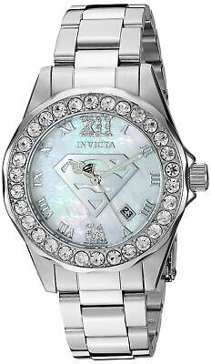 Invicta DC Comics Superman Limited Edition 29305 Women's Silver MOP Watch 38mm