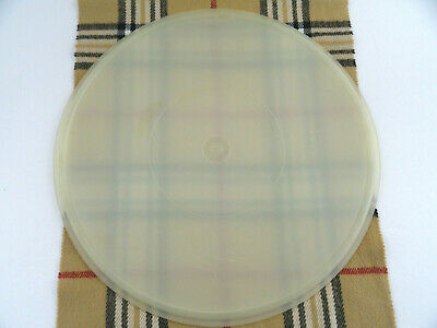 "Tupperware 224 Replacement Round Seal Cover Lid Only Sheer 12"" Large"