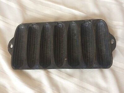 Vintage Wagner Ware Krusty Korn Kobs Letter A Cast Iron Corn Bread Muffin Pan