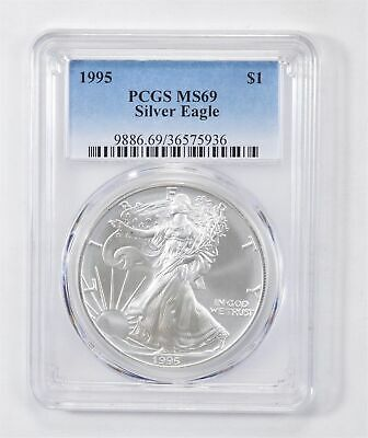 1995 American Silver Eagle MS-69 1 Troy Oz PCGS Graded *559