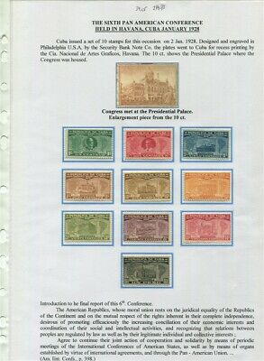 Pan American Union EXHIBIT PAGES -  #284-293 1928 Conference cv$34.50