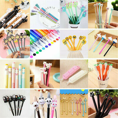 Cute Kawaii Cartoon Gel Ink Pen Ballpoint Student Pens Stationary Office Writing