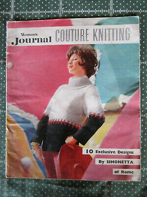 Vintage Knitting Pattern Book Woman's Journal Couture Knitting   ** Must See ***