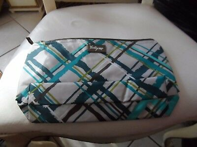 THIRTY-ONE 31 Medium Thermal Zipper Pouch Sea Plaid retired Bag Cold/Hot