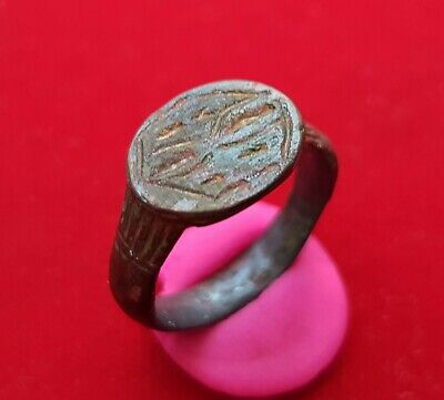 Ancient Roman Billon engraved ring . Beautiful , perfect condition .