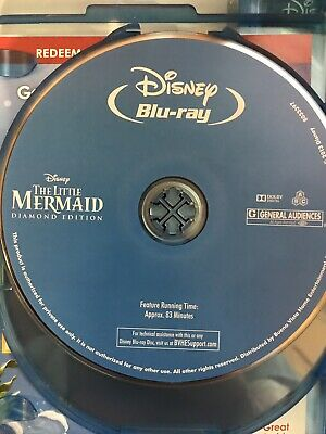 Disney The Little Mermaid Diamond Edition On Blu Ray (No Artwork/DVD OR DIGITAL)