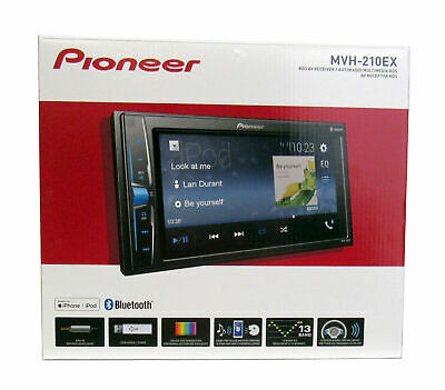 "Pioneer MVH-210EX 2-DIN 6.2"" Touchscreen Car Stereo Multimedia Bluetooth Receive"