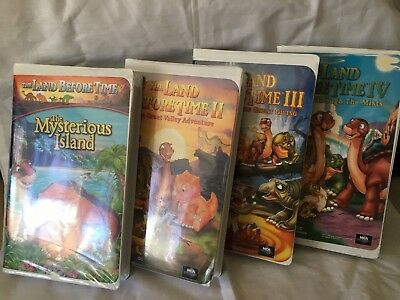 The Land Before Time Lot (VHS) 4 Videos!! Family Videos VHS Tapes Movies