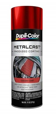 Duplicolor MC200 RED Anodized Paint Gloss Metal Cast 11oz High Heat Coating