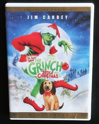 How the Grinch Stole Christmas (DVD, 2001, Widescreen) Jim Carrey Comedy Movie