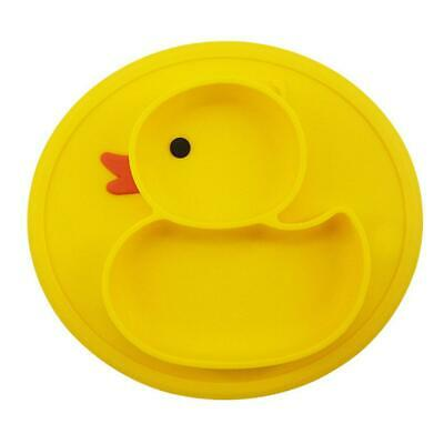 Food Grade Silicone Mat Baby Kid Table Eating Dish Suction Tray Placemat Plate