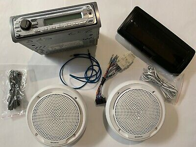Sony Marine Stereo System (Head unit & case + pair of speaker)