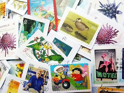 1000 Australian used stamps bulk high value ONLY 50c-$1 AND HIGHER kiloware