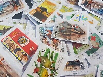 500 Australian used stamps bulk 70c and higher (INCL.G $1) kiloware only SALE