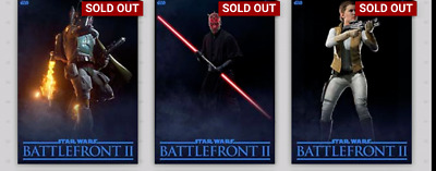 Topps Star Wars Card Trader Lot Of 3 Battlefront 2 Blue Digital *Not Physical*