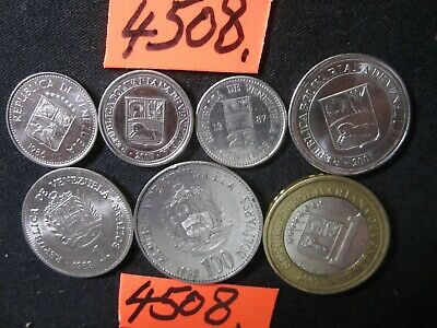 7 x assorted coins from Venezuela    35   gms      Mar4508