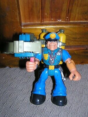 Rescue Heroes Billy Blazes 1997 Mattel Fisher Price Action Figure with Weapon