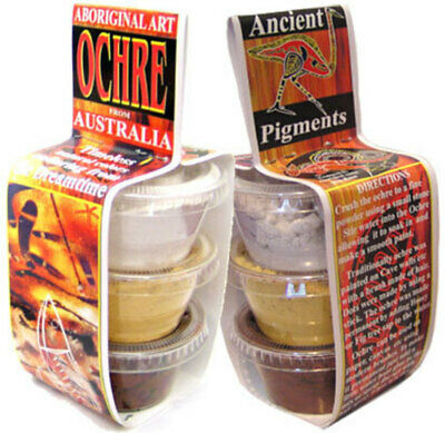 Aboriginal Art Ochre Pots (3)