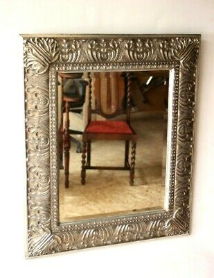 Vintage Ornate Baroque style Silver Wall Mirror - FREE Shipping [5126]